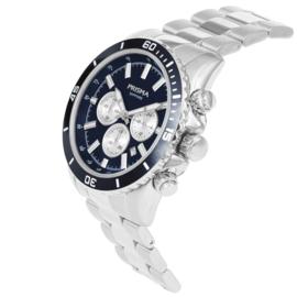 Edelstalen Chronograaf Horloge met Navy Voorkant van Prisma