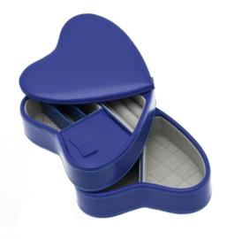 Korenblauw Hart Sieradendoos van Davidts Chrome