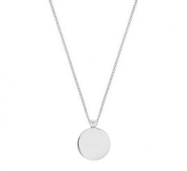 Zilveren Gourmet Collier met Zilveren Munt