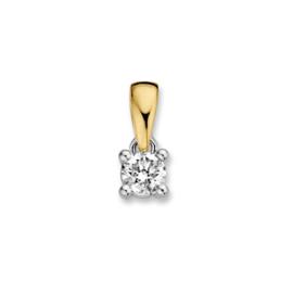 Excellent Jewelry Geelgouden Hanger met 0,19 crt. Briljant