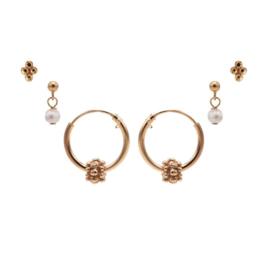 Karma Jewelry – Zesdelige Pretty Pearls Earparty Set - Rosé