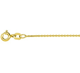 Goudkleurig Anker Plat Collier | Dikte: 1,2 mm Lengte: 50 cm