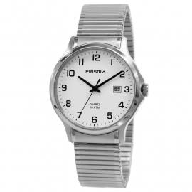 Prisma Horloge 1701 Heren All Stainless Steel Rekband