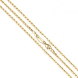Medaillon collier / Goudkleurige Jasseron ketting 27-0022