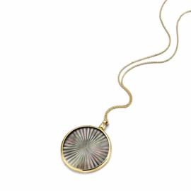 Gouden 33mm Medaillon met Black Laser Sun Insignia en Ketting van MY iMenso Gold