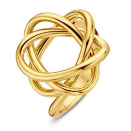 Excellent Jewelry Geelgouden Ring met Fantasievol Kopstuk