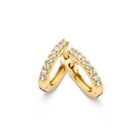 Excellent Jewelry Geelgouden Creolen met Zirkonia's