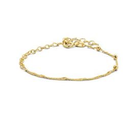 Goudkleurige Armband met Schakels 2,6 mm 16 + 3 cm
