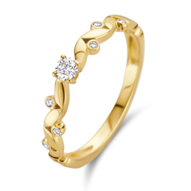Excellent Jewelry Gouden Ring met Briljanten ter Decoratie