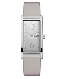 Zilverkleurig Best Basic Banana Dames Horloge met Lichtgrijze band van M&M
