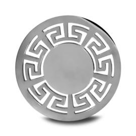 LOCKits Zilverkleurige Munt met Meander Rand 25mm