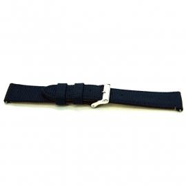 Horlogeband H615 Nylon Navy Blauw 22x20mm