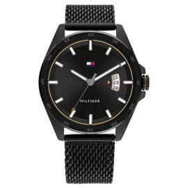 Tommy Hilfiger Zwart Heren Horloge – Milanese Horlogeband