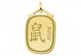 Names4ever Chinees Sterrenbeeld Rat Hanger GHS025