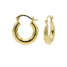 Goudkleurige Diamant Oorstekers 20MM | Karma Jewelry