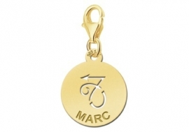 Names4ever Zodiac-Bedel Steenbok in massief goud GBS010