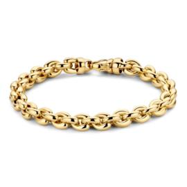 Excellent Jewelry Brede Geelgouden Armband met Ronde Schakels
