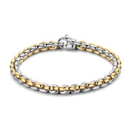 Excellent Jewelry Brede Bicolor Schakelarmband voor Dames