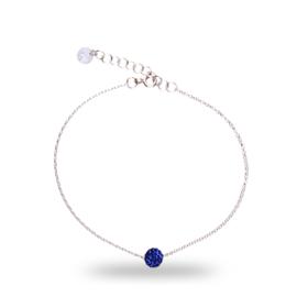 Donkerblauwe Pavé Swarovski Armband van Spark Jewelry