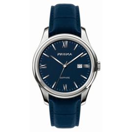 Prisma Alfa Heren Horloge met Blauwe Band