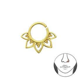 Goudkleurige Neus Ring met Decoraties