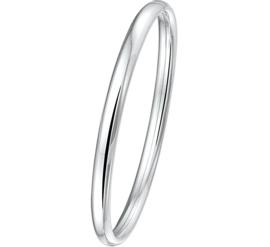 Stevige Bangle armband voor Dames van Zilver