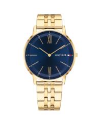 Tommy Hilfiger Goudkleurig Horloge met Blauwe Wijzerplaat TH1791513