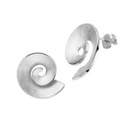 Gescratchte Edelstalen Spiraal Oorknoppen voor Dames