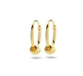 Gouden Oorringen met Drie Ringetjes