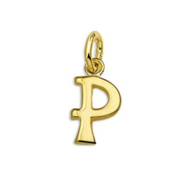 Gouden Letter Bedel Hanger – P