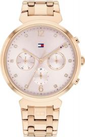 Tommy Hilfiger Roségoudkleurig Dames Horloge met Schakelband