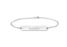 Mathilda Bar Armband van Zilver met Naam > Names4ever