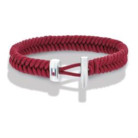 Rode Touw Armband met Edelstalen Sluiting van Tommy Hilfiger TJ2701072