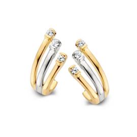 Excellent Jewelry Bicolor Zirkonia Oorstekers voor Dames