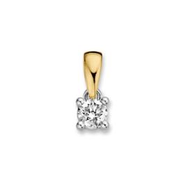 Excellent Jewelry Geelgouden Hanger met 0,24 crt. Briljant