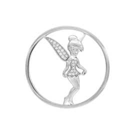 Zilveren Tinkelbel Cover Munt met Zirkonia's van MY iMenso