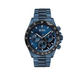 Hugo Boss Horloge Hero Blauw Horloge met Edelstalen Band van Boss
