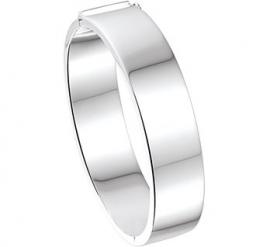 Graveer Bangle armband met Scharniersluiting en Vlakke Buis