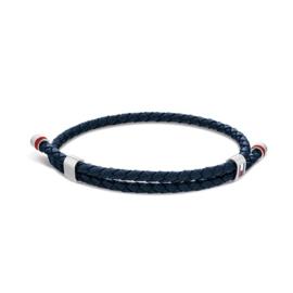 Blauwe Heren Armband van Leder van Tommy Hilfiger