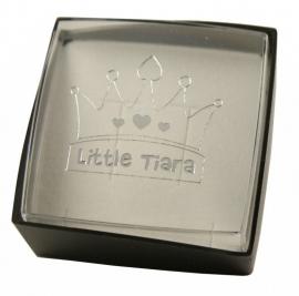 Sieradendoosje zwart / Little Tiara doosje