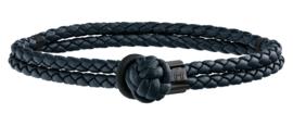 Tommy Hilfiger Geknoopte Blauw Lederen Armband