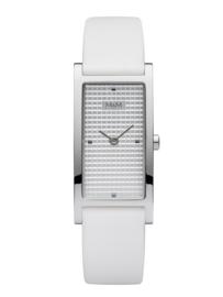 Rechthoekig M&M Horloge voor Dames met Wit Lederen Horlogeband