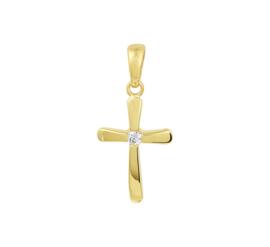 Kruis Hanger van Geelgoud met Zirkonia