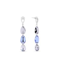Spark Triple Drop Oorhangers met Swarovski Kristallen