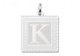 Names4ever Vierkante Ornamentele Rand Letter Hanger