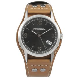 Classic Heren Horloge van Prisma met Bruin Lederen Horlogeband