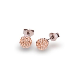 Goudkleurige Pavé Swarovski Oorstekers van Spark Jewelry
