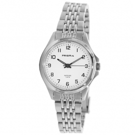 Prisma Horloge P.1550 All Stainless Steel Saffierglas