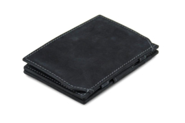Carbon Zwarte Magic Coin Wallet Portemonnee van Essenziale Garzini