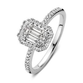 Excellent Jewelry Witgouden Ring met Diamanten